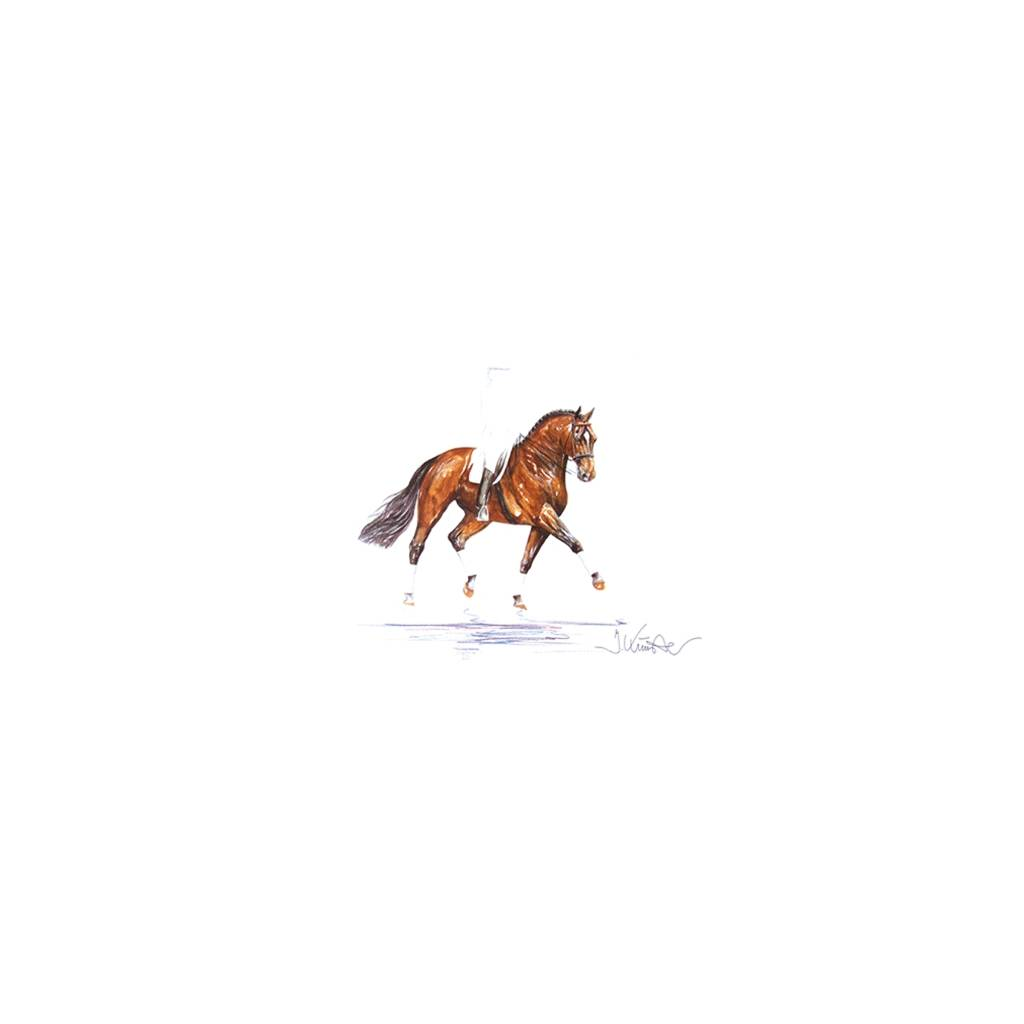 Classic, Dressage Art Print by Jan Kunster