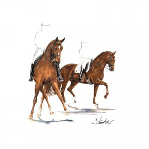 Gigolo, Dressage Art Print by Jan Kunster