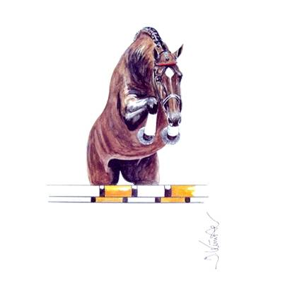 Amaretto Show Jumper Art Print by Jan Kunster