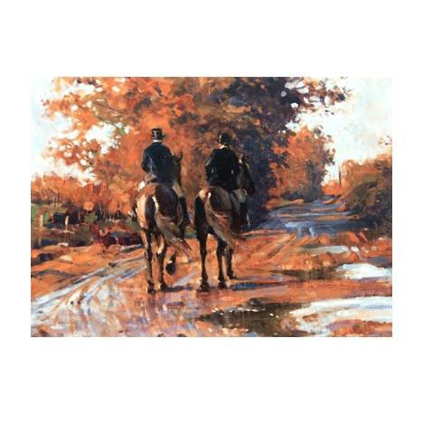 End of a Good Day (Fox Hunting) Blank Greeting Cards - 6 Pack