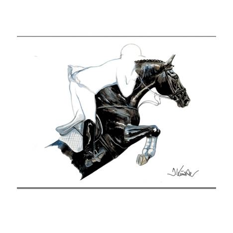 Spitfire, Show Jumper Art Print by Jan Kunster