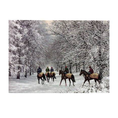 Horse Racing - All is Calm Blank Greeting Cards - 6 Pack