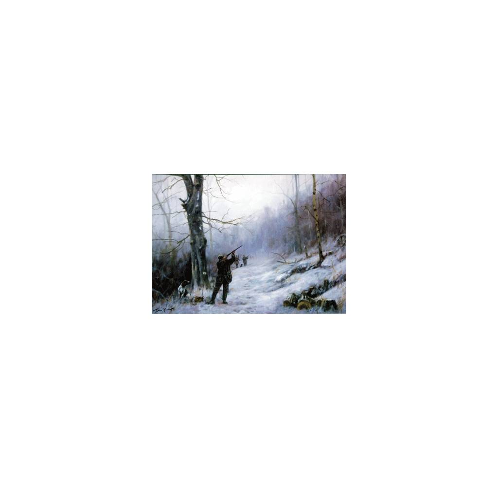 Last Drive of the Day (English Springer) Blank Greeting Cards - 6 Pack