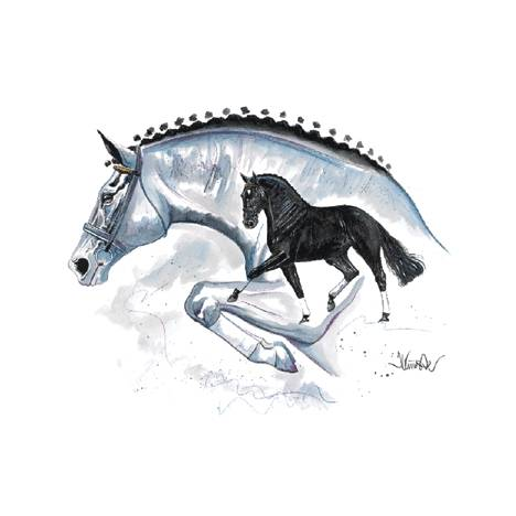 Genua, Eventing Horse Art Print by Jan Kunster