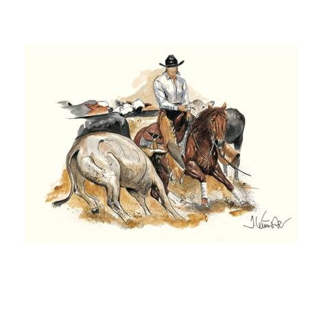 Cutting, Western Art Print by Jan Kunster