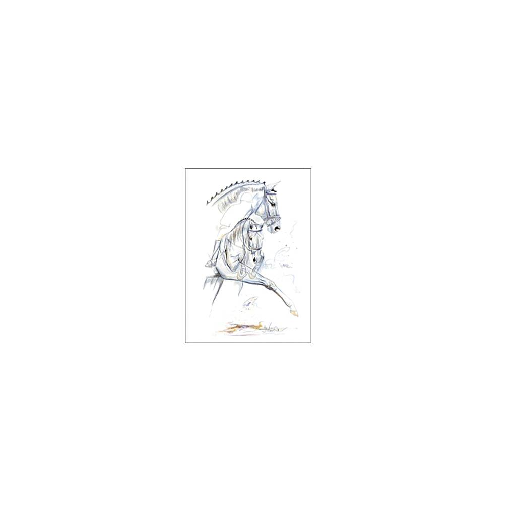 Riviera, Dressage Art Print by Jan Kunster