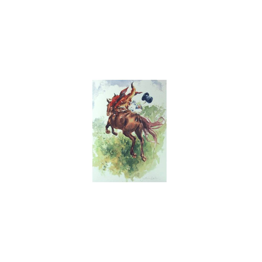 Harry Hieover Blank Greeting Cards - 6 Pack
