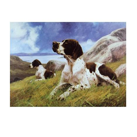 Ready and Waiting (English Pointer) Blank Greeting Cards - 6 Pack