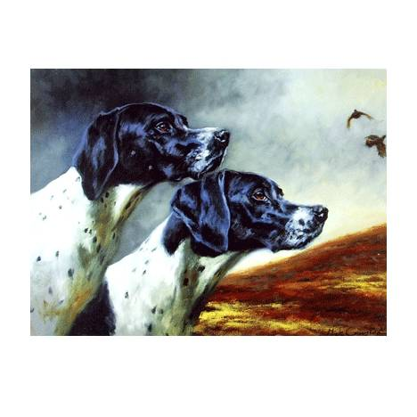 Working Together (English Pointers) Blank Greeting Cards - 6 Pack