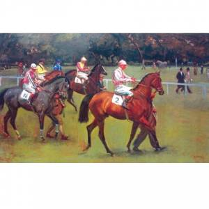 At the Races Going out Kempton By: Alfred Munnings