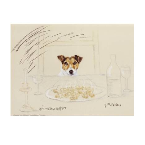 Terrier Wanting Sausage By: Gill Evans, Matted