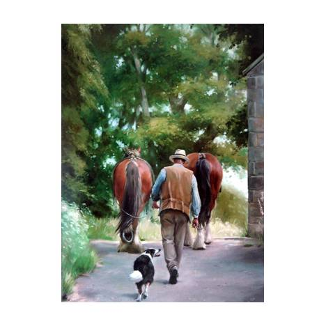 Horses - Homecoming (Draft Horses) Blank Greeting Cards - 6 Pack