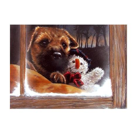 Frosty (Border Terrier) Blank Greeting Cards - 6 Pack