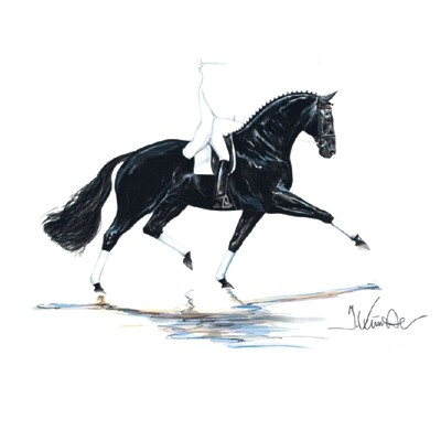 Las Vegas, Dressage Art Print  by Jan Kunster
