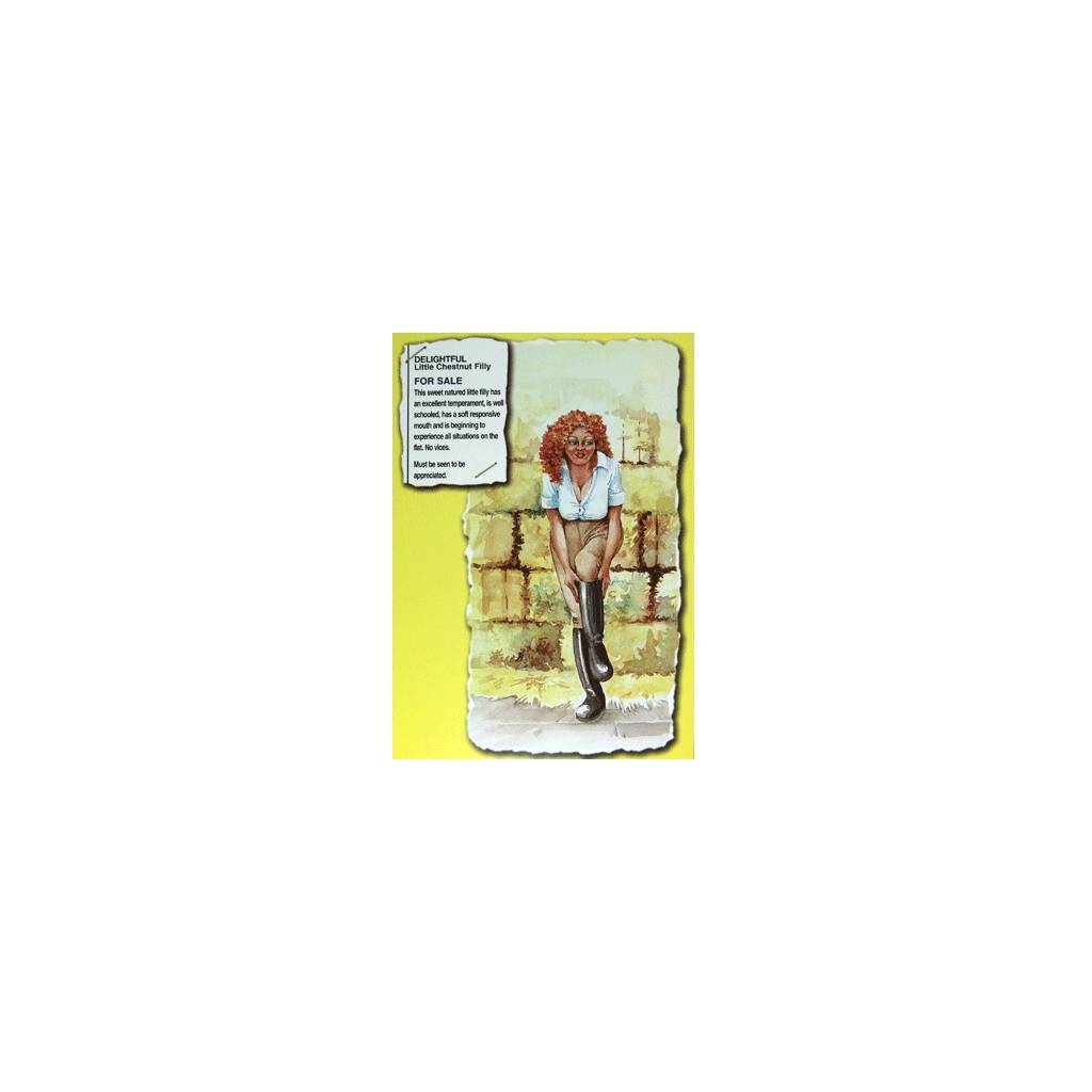 Delightful Little Chestnut Filly Blank Greeting Cards - 6 Pack