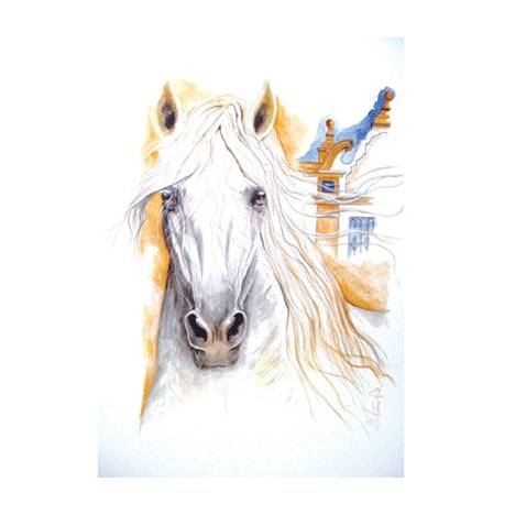 Solero, Andalusian Art Print by Jan Kunster