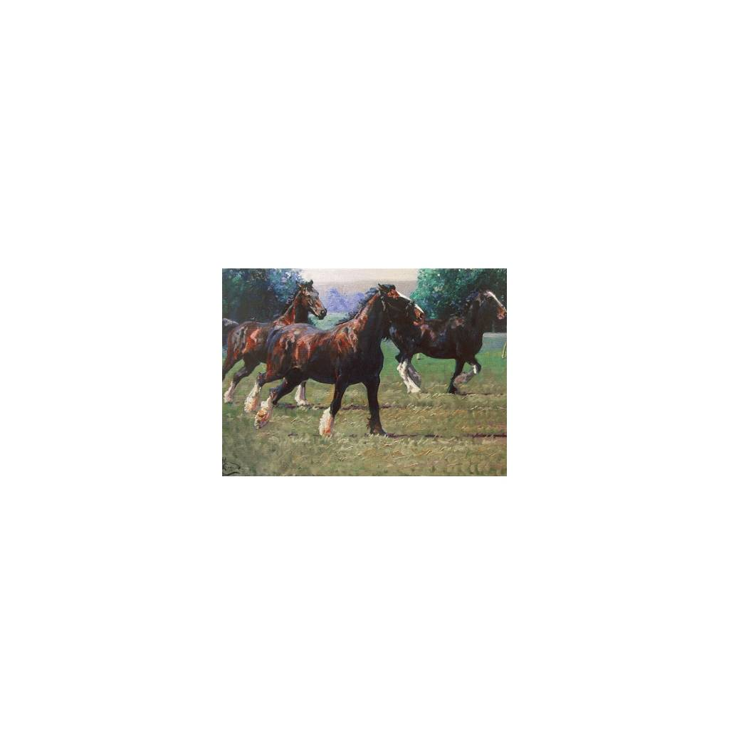 The Heavy Brigade (Draft Horse) Blank Greeting Cards - 6 Pack