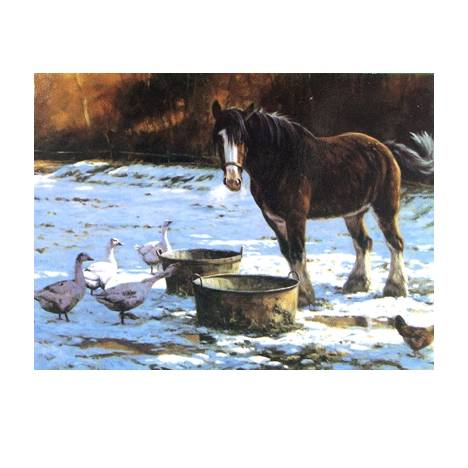 Christmas Lunch (Clydesdale) Blank Greeting Cards - 6 Pack
