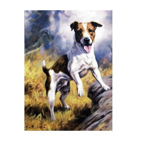 Ready to Go (Jack Russell) Blank Greeting Cards - 6 Pack