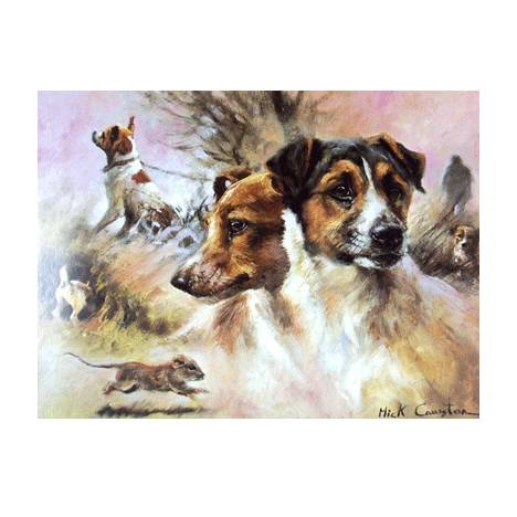 Terriers (Jack Russell) Blank Greeting Cards - 6 Pack