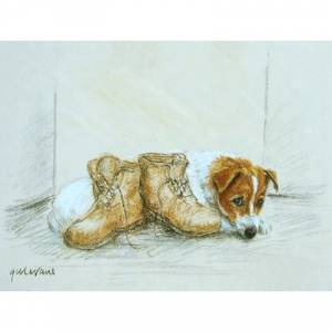 Terrier and Boots by: Gill Evans