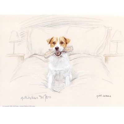 Terrier with Slipper By: Gill Evans
