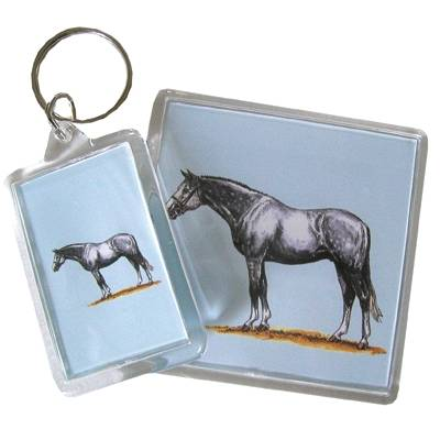 Acrylic Key Ring Warmblood
