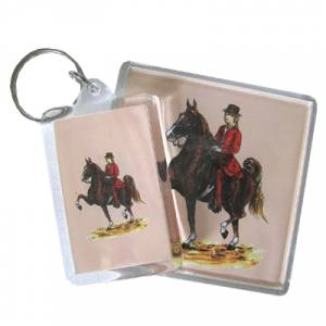 Acrylic Key Ring - Saddlebred