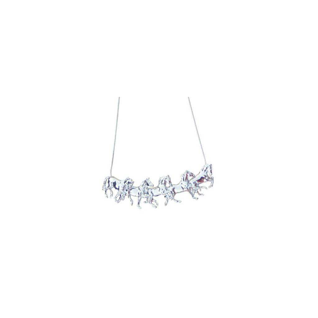 Beverly Zimmer 5 Running Horses Necklace