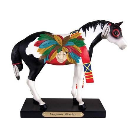 Trail of Painted Ponies Cheyenne Warrior Figurine