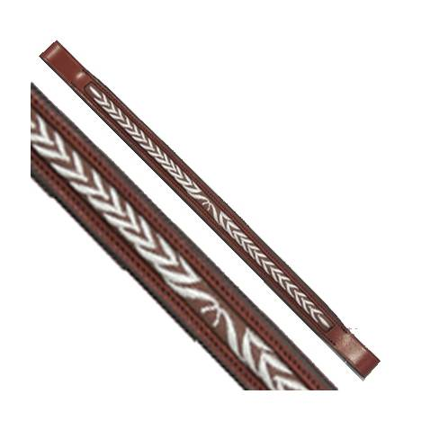 Exselle Elite Laurel Leaf Stitch Design Browband