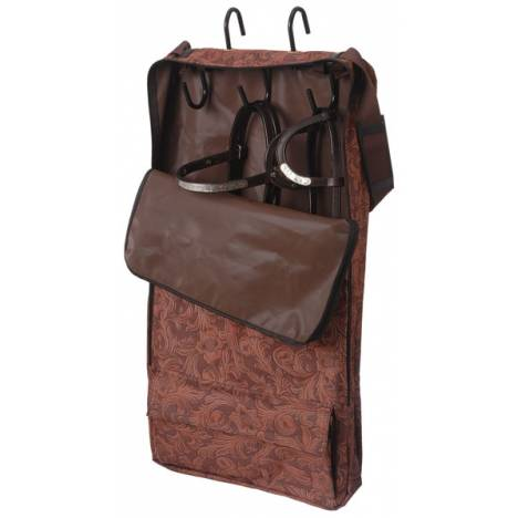 Tough-1 Halter/Bridle Bag - Tooled Leather Print