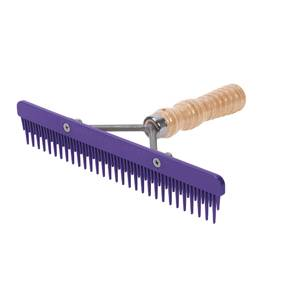 Weaver Livestock Fluffer Comb with Wood Handle and Replaceable Plastic Blade