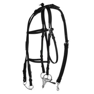 HorZe Synthetic American Open Bridle