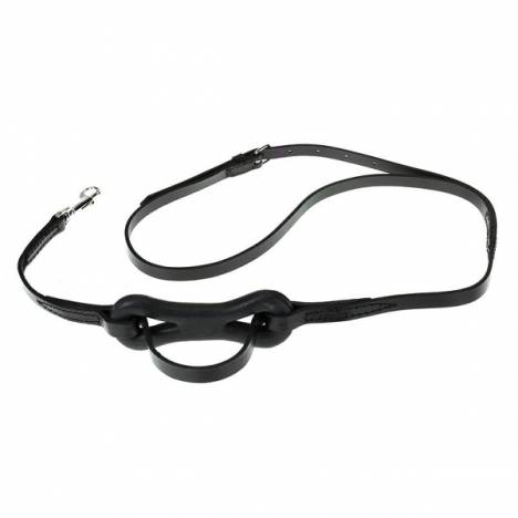HorZe Single Strap with Dogbone Leather Martingale
