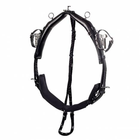 HorZe Synthetic QH Pony Harness Pro Saddle