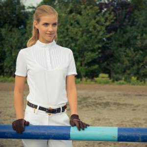 Horze Ladies Pleated-Front Tech Shirt