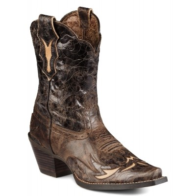 Ariat Dahlia Western Boots - Ladies - Brown Floral