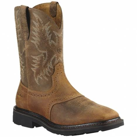 Ariat Sierra Square Toe Safety Toe Boot - Mens - Aged Bark