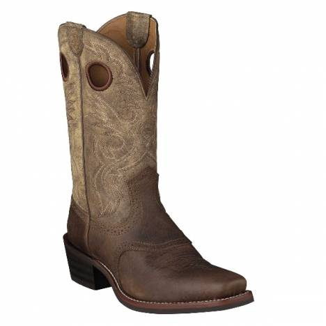 Ariat Heritage Roughstock Western Boot - Earth/Brown Bomber