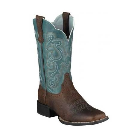 Ariat Quickdraw Western Boot - Ladies - Brown/Sapphire