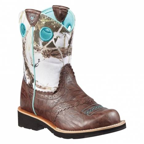Ariat Fatbaby CowGirl Boots - Kids, Brown/Snowflake
