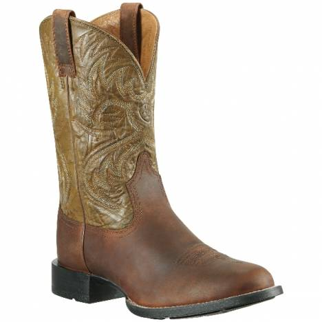 Ariat Heritage Horseman Boot - Mens, Brown/Army Green