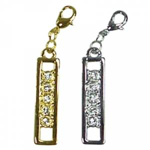 Exselle Zipper Pull with  Clear Stones