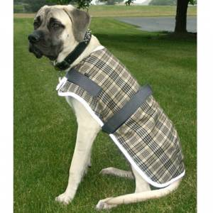High Spirit Fleece Plaid Dog Coat