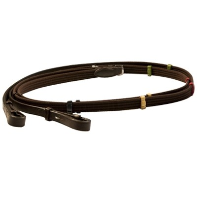 Exselle Elite Web Reins with  Colored Stops