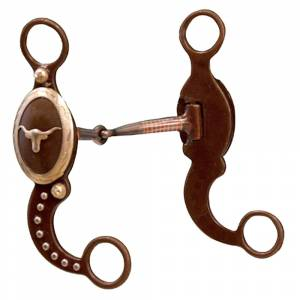 Longhorn Antiqued Show Snaffle With Copper Inlays