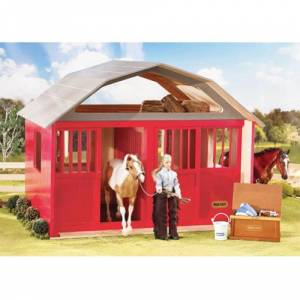 Breyer Two Stall Red Wood Barn