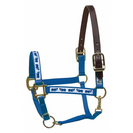 Perri's Leather Ribbon Safety Halter - Hippos