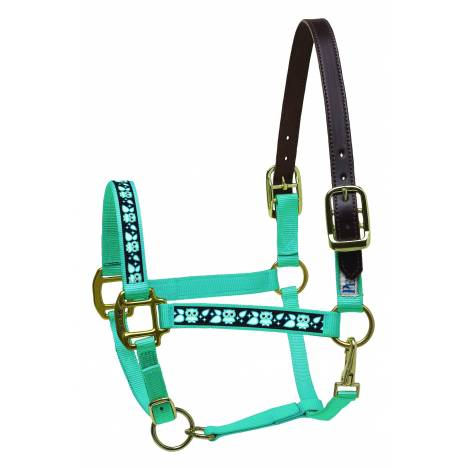 Perri's Leather Ribbon Safety Mini Halter - Owls